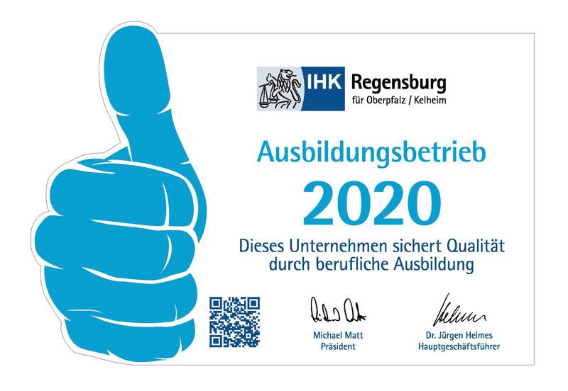 Ausbildungsbetrieb IHK Regensburg 2020