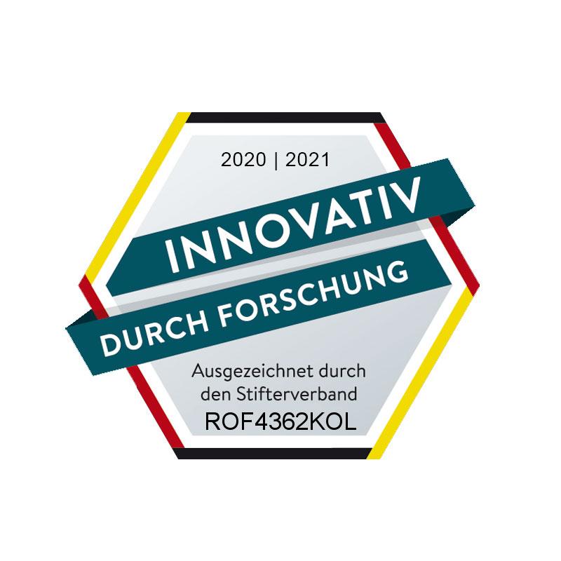 "ROFA erhält Auszeichnung ""Innovativ durch Forschung"""
